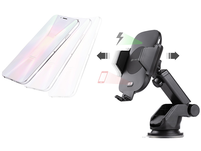 Automatic car mount with 10W wireless charger TRACER WIRELESS AUTOMATIC
