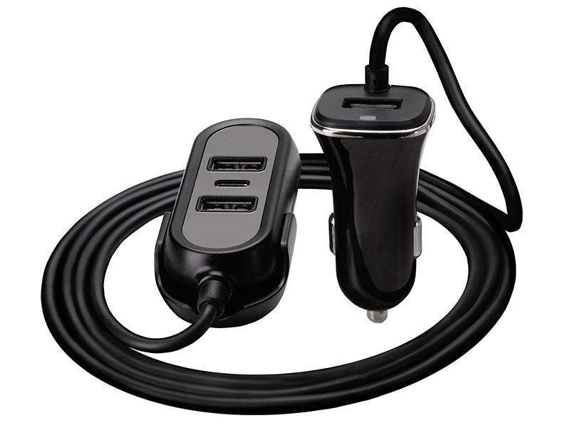 Car Charger TRACER 12-24V Multicharge 3xUSB 7,2A + PD 18W