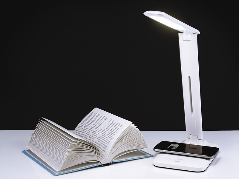 TRACER LUMINA LED table lamp with wireless charger 5W and USB charger