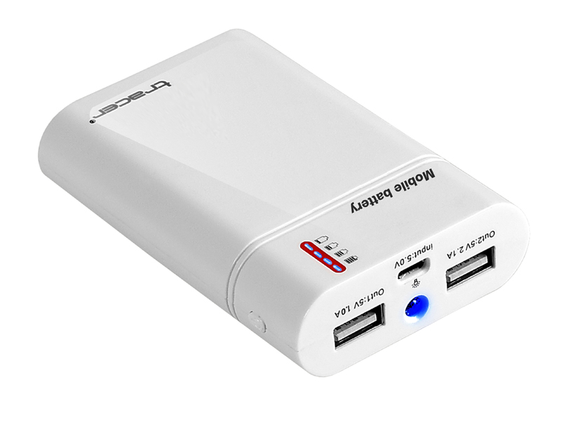 Mobile battery TRACER 8400 mAh white