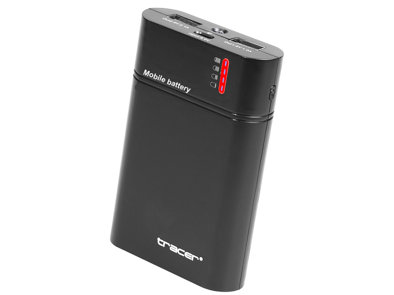 Mobile battery TRACER 8400 mAh black