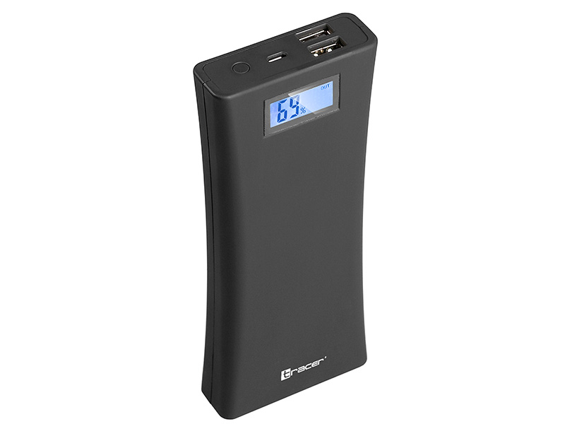 Mobile battery TRACER 15600 mAh smooth noir serie
