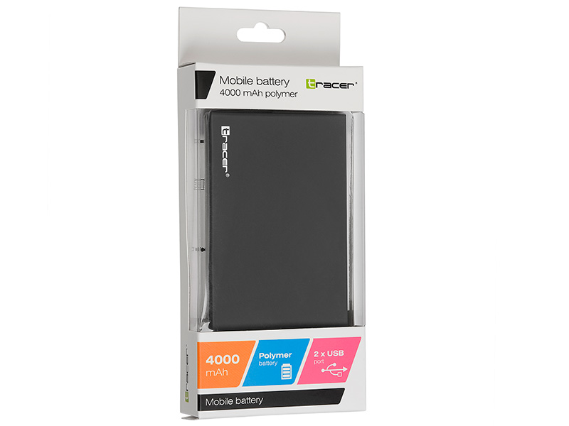 Mobile battery TRACER 4000 mAh polymer dark grey