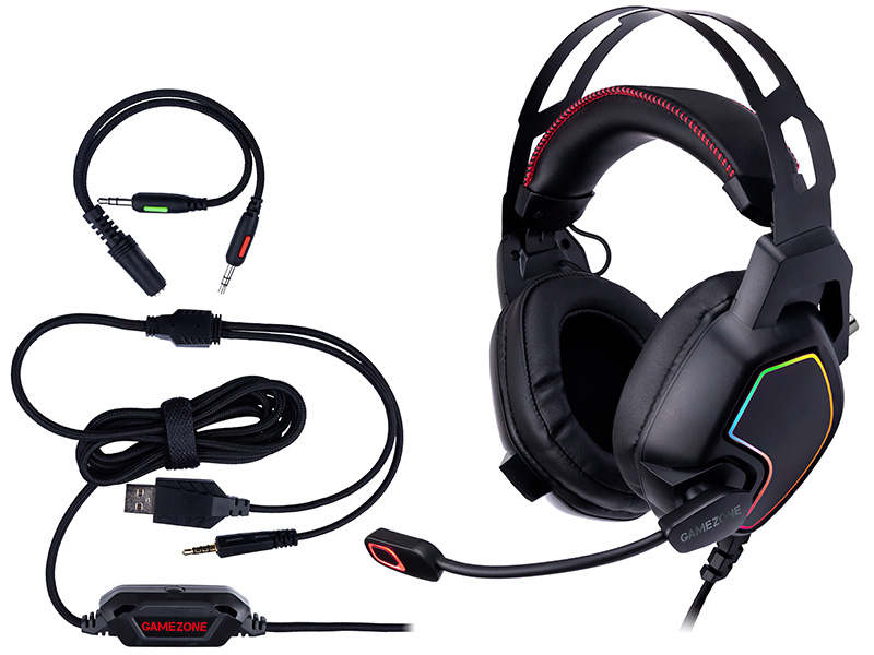 Gaming headsetTRACER GAMEZONE Raptor V2 RGB